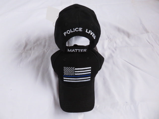 Police Lives Matter Memorial Blue Line Black Cap