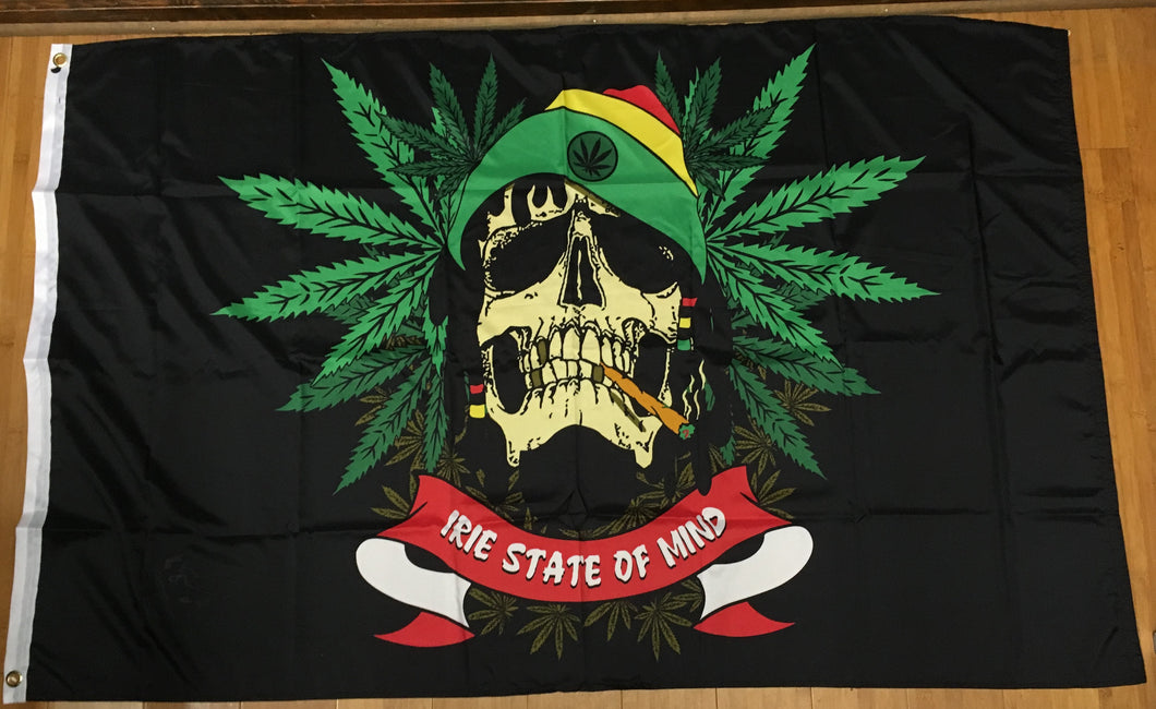 Ire State Of Mind Rastafarian Flag 3'X5' Rough Tex® 100D
