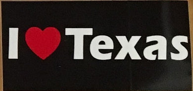 I LOVE TEXAS OFFICIAL BUMPER STICKER PACK OF 50 BUMPER STICKERS MADE IN USA WHOLESALE BY THE PACK OF 50!