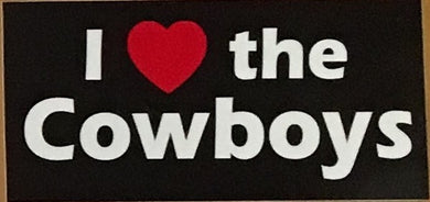 I LOVE THE COWBOYS OFFICIAL BUMPER STICKER PACK OF 50 BUMPER STICKERS MADE IN USA WHOLESALE BY THE PACK OF 50!