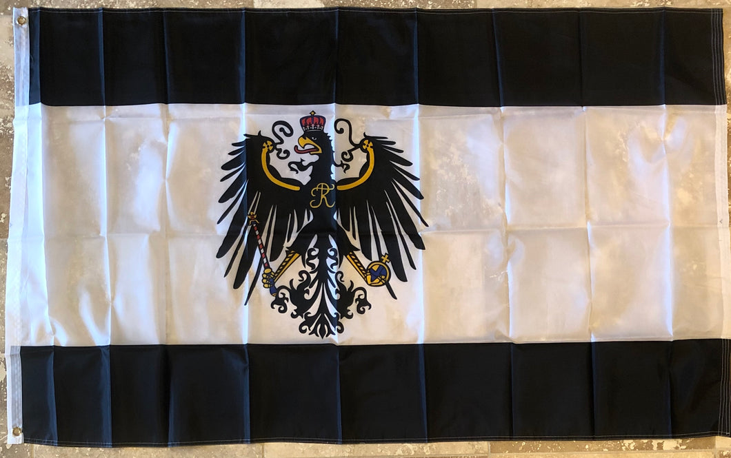 KINGDOM OF PRUSSIA 1892-1918 OFFICIAL 150D NYLON PREMIUM UV PROTECTED WATER PROOF 3'X5' FLAGS ROUGH TEX