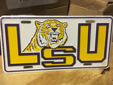 LSU TIGERS LOUISIANA STATE UNIVERSITY LICENSE PLATE