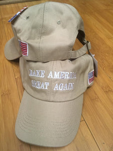 KHAKI MAGA MAKE AMERICA GREAT AGAIN CAPS TRUMP HATS