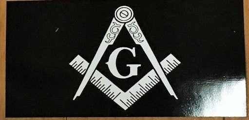 MASONIC BLACK OFFICIAL BUMPER STICKER PACK OF 50 BUMPER STICKERS MADE IN USA WHOLESALE BY THE PACK OF 50!