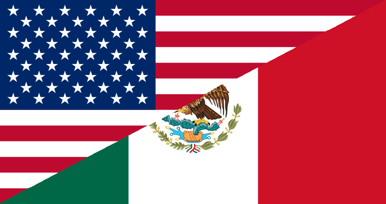 USA American Mexican 3x5ft Nylon 150D Flag