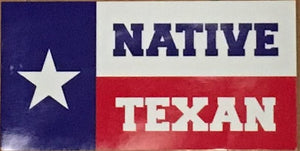 "TEXAS FLAG ""NATIVE TEXAN"" OFFICIAL BUMPER STICKER PACK OF 50 BUMPER STICKERS MADE IN USA WHOLESALE BY THE PACK OF 50!"
