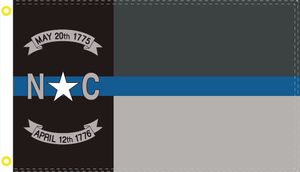 NORTH CAROLINA POLICE MEMORIAL NC LAW OFFICIAL FLAG 3X5