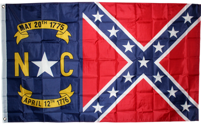 NC Gold Battle flag 3'x5' polyester
