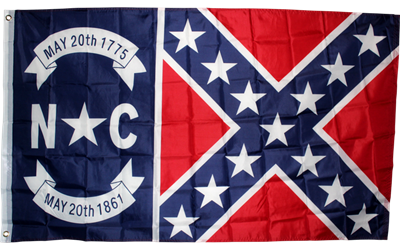 NC Battle flag 3'x5' polyester