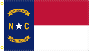 NORTH CAROLINA NC OFFICIAL FLAG 3X5