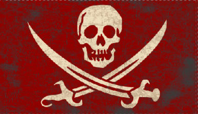3'X5' 100D  CALICO JACK RED FLAG