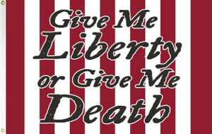 3'X5' 100D GIVE ME LIBERTY STRIPES FLAG