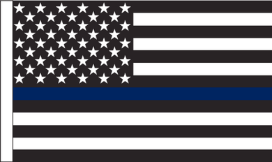 3'X5' 100D US POLICE MEMORIAL FLAG