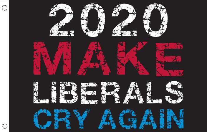 3'X5' 100D MAKE LIBERALS CRY AGAIN DBL SIDES FLAG