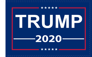 3'X5' 100D TRUMP 2020 BLUE FLAG DBL SIDED