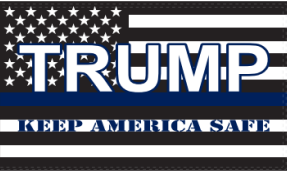 3'X5' 100D USA TRUMP KAS FLAG KEEP AMERICA SAFE POLICE