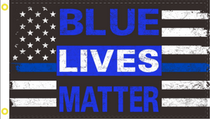 3'X5' 100D BLUE LIVES MATTER FLAG