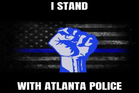 3'x5' 100D I STAND WITH THE ATLANTA POLICE FLAG