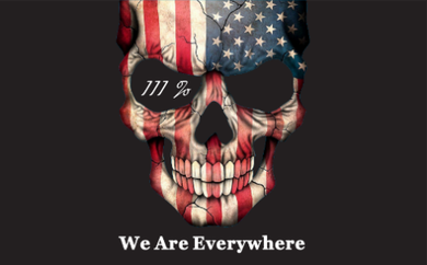 3'X5' 100D  WE ARE EVERYWHERE 111% AMERICAN DBL SIDES FLAG