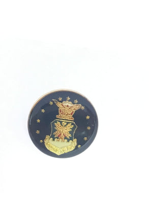 US AIR FORCE ROUND FLAGS Cloisonne Lapel Pins