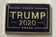 TRUMP 2020 BLUE OFFICIAL PIN Cloisonné Hat Lapel