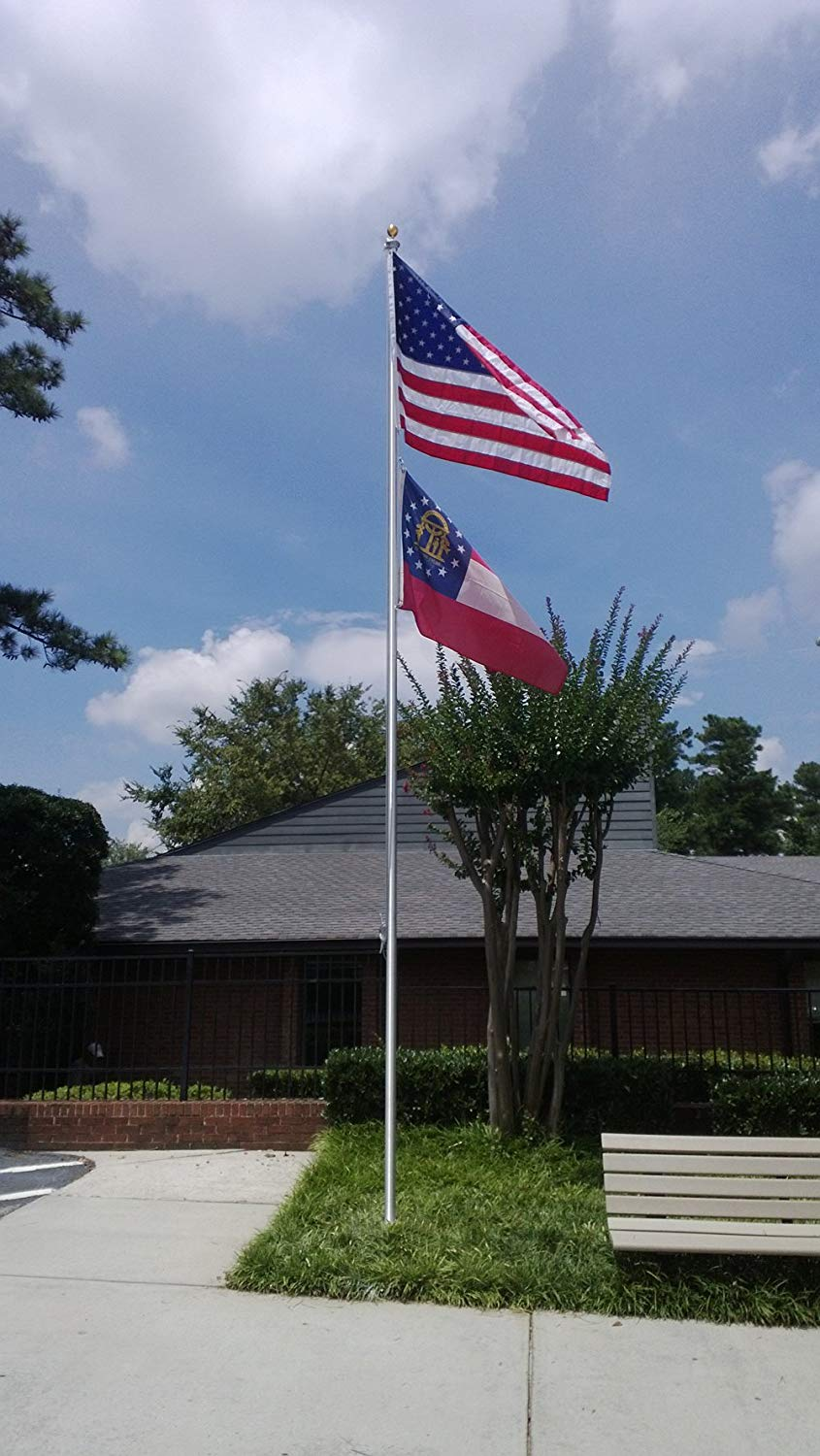 25' SATIN TAPERED FLAG POLE COMMERCIAL (SECTIONAL)