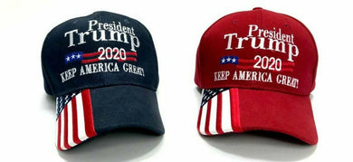 144 President Trump 2020 Keep America Great Caps (choose red or navy or mixed)