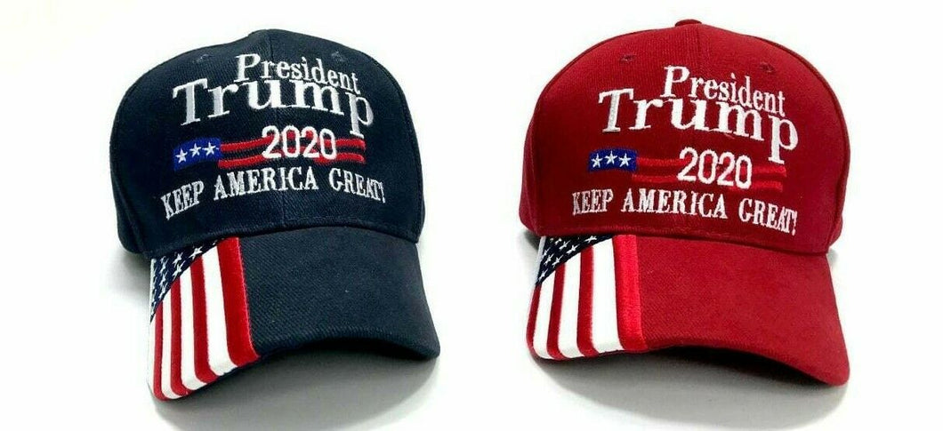 *SOLD OUT* 12 President Trump 2020 Keep America Great Caps (choose red or navy or mixed)