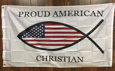 PROUD CHRISTIAN AMERICAN OFFICIAL FLAG 3'X5'