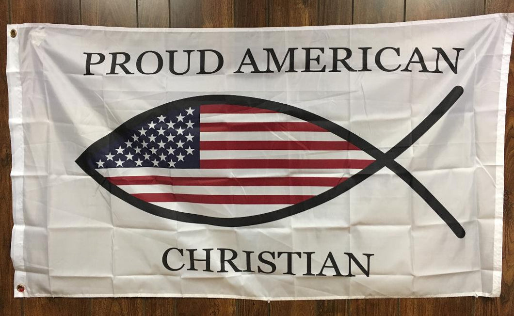 12 PROUD CHRISTIAN AMERICAN OFFICIAL FLAG 3'X5' FLAGS BY THE DOZEN WHOLESALE PER DESIGN!