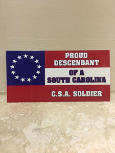 50 PROUD DESCENDANT OF A SOUTH CAROLINA CS NAVY JACK SOLDIER