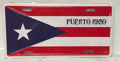 Puerto Rico Flag License Plate PUERTO RICO