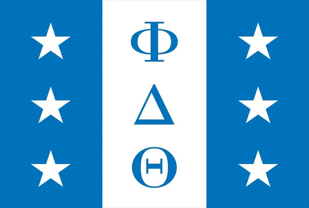PHI DELTA THETA official FLAGS WITH GROMMETS FLAG-  12'X18' Rough Tex® 100D