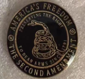 The Second Amendment Gadsden- Cloisonne Hat & Lapel Pin