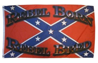 REBEL BORN REBEL BRED FLAG 3X5 POLYESTER