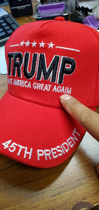 24 official 45th President TRUMP caps red error in embroidery CLEARANCE PRICE