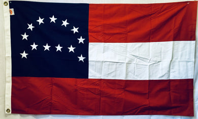 Robert E Lee 3'X5' COTTON FLAG