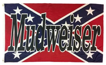 REBEL MUDWEISER FLAG POLYESTER 3X5