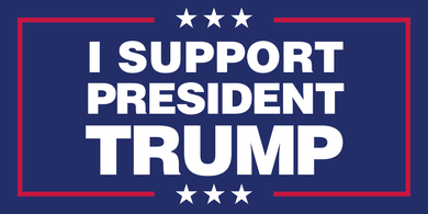 I SUPPORT PRESIDENT TRUMP OFFICIAL DONALD J. TRUMP BUMPER STICKERS PACK OF 50 WHOLESALE