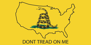 ALL AMERICAN MAP DON'T TREAD ON ME GADSDEN YELLOW BUMPER STICKERS PACK OF 50 WHOLESALE