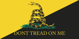 GADSDEN ANARCHO CAPITALIST DON'T TREAD ON ME BUMPER STICKERS PACK OF 50 WHOLESALE