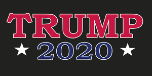 TRUMP 2020 RED WHITE BLUE & BLACK TACTICAL OFFICIAL BUMPER STICKERS PACK OF 50 WHOLESALE