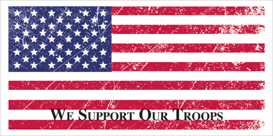 WE SUPPORT OUR TROOPS VINTAGE USA FLAG AMERICAN PATRIOT PRO USA BUMPER STICKERS PACK OF 50 WHOLESALE