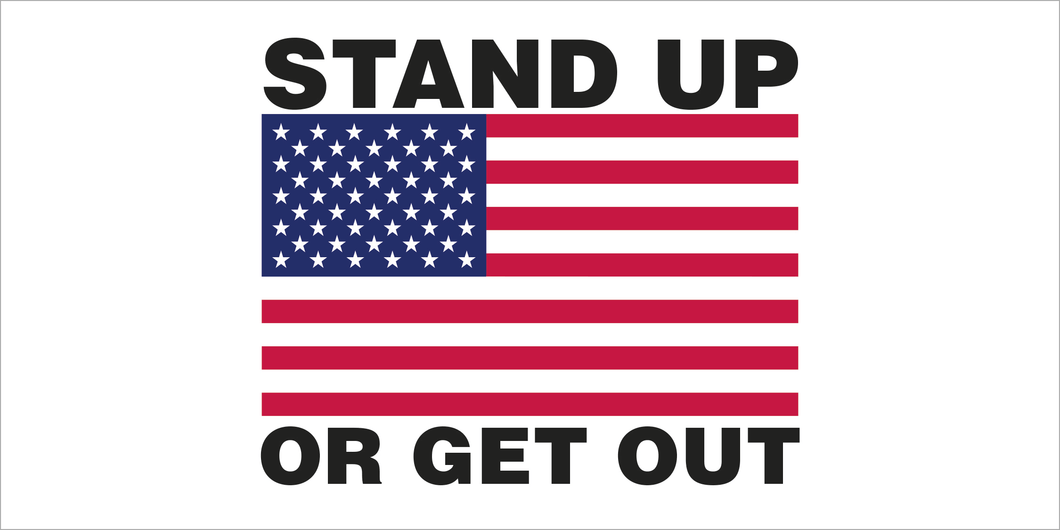 STAND UP OR GET OUT USA FLAG AMERICAN PATRIOT PRO USA BUMPER STICKERS PACK OF 50 WHOLESALE