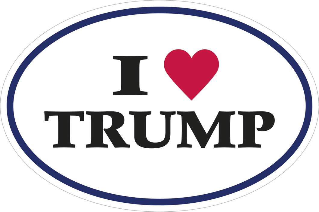 I LOVE TRUMP OVAL OFFICIAL BUMPER STICKERS PACK OF 50 WHOLESALE