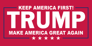 TRUMP KEEP AMERICA FIRST! OFFICIAL BUMPER STICKERS PACK OF 50 WHOLESALE