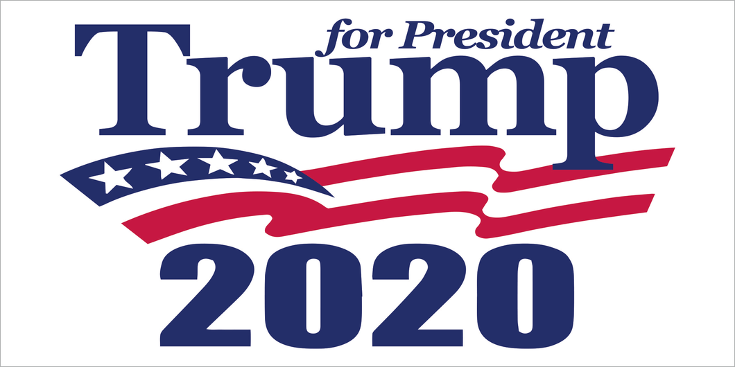 TRUMP FOR PRESIDENT AMERICAN FLAG USA 2020 WHITE BLUE RED OFFICIAL BUMPER STICKERS PACK OF 50 WHOLESALE