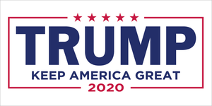 TRUMP KEEP AMERICA GREAT 2020 WHITE BLUE RED OFFICIAL BUMPER STICKERS PACK OF 50 WHOLESALE