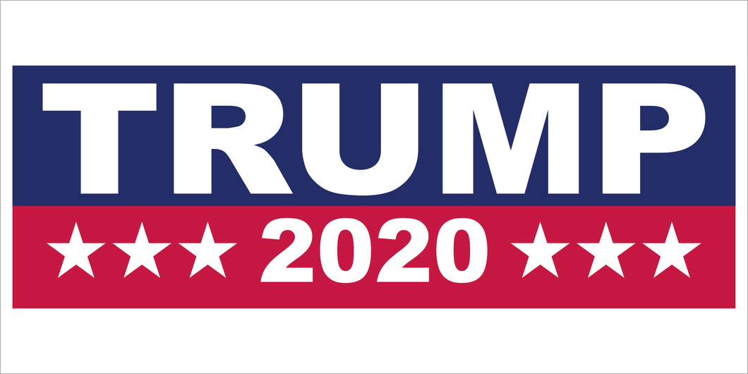 TRUMP 2020 BLUE & RED OFFICIAL BUMPER STICKERS PACK OF 50 WHOLESALE