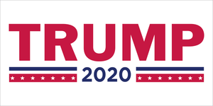 TRUMP 2020 WHITE OFFICIAL BUMPER STICKERS PACK OF 50 WHOLESALE